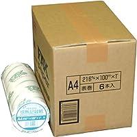 officeネット FAX用 感熱ロール紙 A4 216mm×100m×25.4mm ( 1インチ ) 6本入