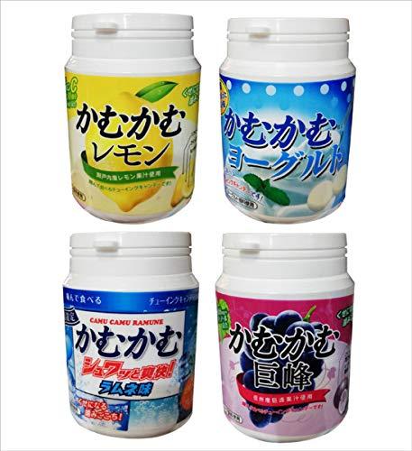 [4種セット] かむかむ レモン ヨーグルト 巨峰 ラムネ味 120g ボトル