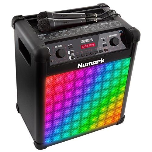 Numark カラオケシステムとBluetoothスピーカー 60種類のボイスエフェクト・LEDライト・高品質マイク付属 50W Sing Master