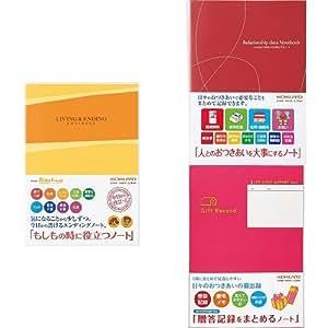 コクヨ おつきあいセット エンディングノート(LES-E101)・おつきあいノート(LES-R101)・贈答記録をまとめるノート(LES-R103)
