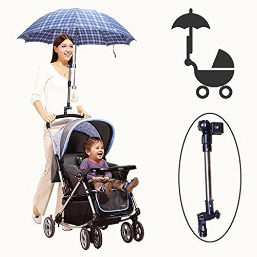 雨 の日に 両手が使えて安心 ベビーカー 用 傘 アーム スタンド フック 傘スタンド ベビーカー用 チャイルドシート クッション カバーオール [並行輸入品]