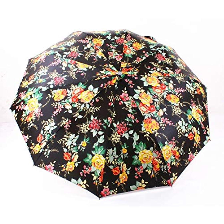 エトナ山謙虚な苦難HOHYLLYA 女性の夏の傘日焼け止め防風傘屋外旅行折りたたみ傘ポータブルフラワー柄傘ベビーカー sunshade (色 : Multicolor)