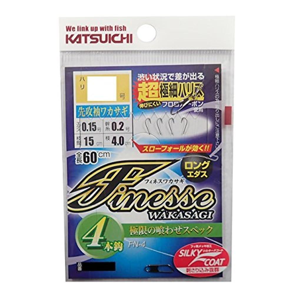 カツイチ(KATSUICHI) フィネスワカサギ フック 4本鈎 FN-4 .2.0号 釣り針