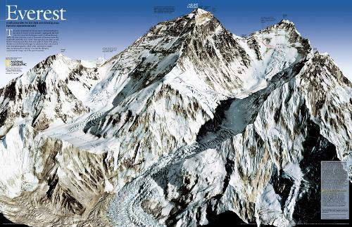 Download Mount Everest 50th Anniversary (National Geographic Reference Map) 0792249933