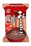 【 アマノフーズ フリーズドライ 】 おしるこ 10食 ( 素材にこだわった 北海道産 小豆 使用 合成甘味料 不使用 )『 フリーズドライ ねぎ 5g付き 』
