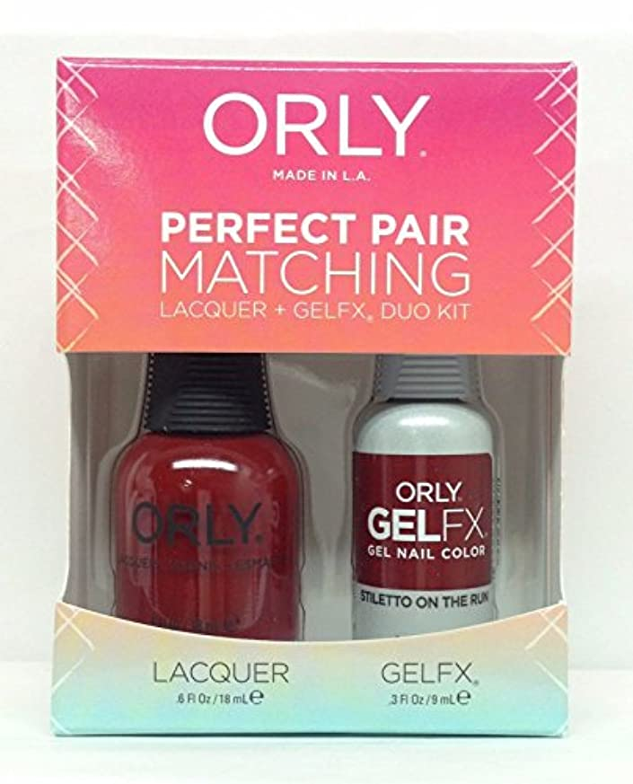 眠り注ぎますストライドOrly Lacquer + Gel FX - Perfect Pair Matching DUO Kit - Stiletto On The Run