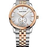 Louis Erard Men 's Heritage 40mmスチールケースクォーツアナログ腕時計16930ab11。bma41