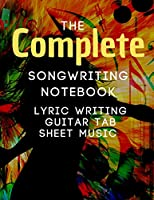 Songwriting Notebook: Music Journal mix of lyric paper sheet and guitar tab