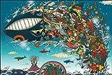 ジグソーパズル むらたももこ クジラ遊泳祭 1000ピース (50x75cm)