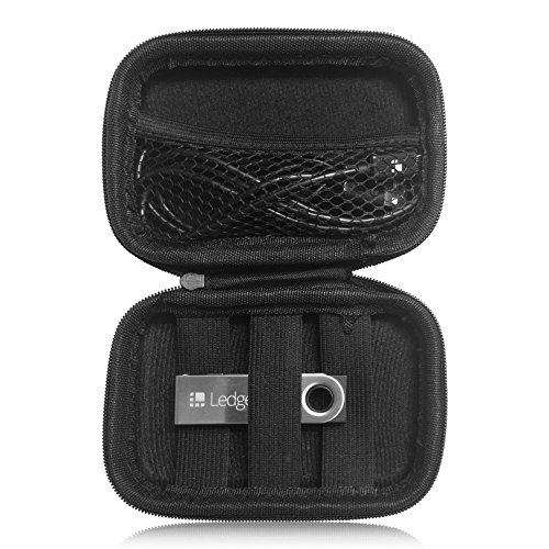 Elite Choice Protective Carry Case for元帳Nano S–ストレージケースFitsとStores Trezor BitcoinハードウェアWallets、元帳、USB、コードとChargers–ファスナー付きケースwithストラップメッシュコンパートメント
