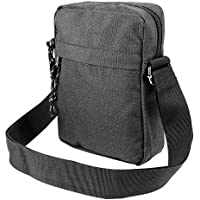 Men Travel Passport Shoulder Bag Cross Body Sling Chest Bag Danim Canvas Style
