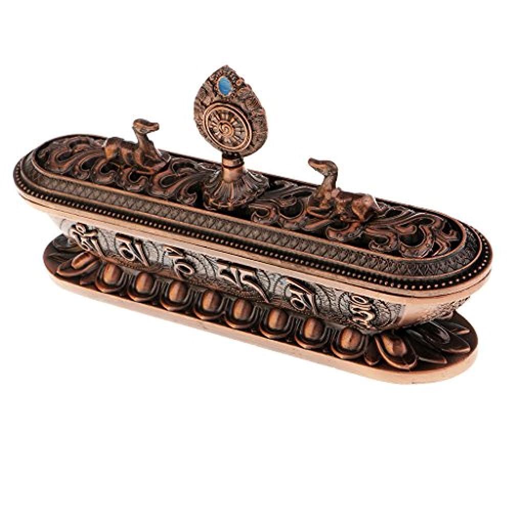 入札属性干渉するhomylレトロチベット合金香炉ホーム装飾仏教の瞑想ヨガ17.5 CM # 3