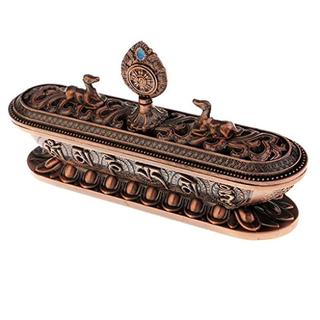 同一の遺体安置所動作homylレトロチベット合金香炉ホーム装飾仏教の瞑想ヨガ17.5 CM # 3