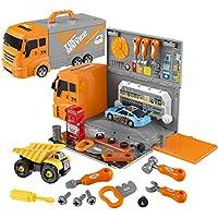 WTOR DIY 車 おもちゃ ねじねじ 49ピース 組み立ておもちゃ 車セット 子供玩具 知育おもちゃ 知育玩具 男の子 女の子 誕生日プレゼント クリスマス 贈り物 出産祝い