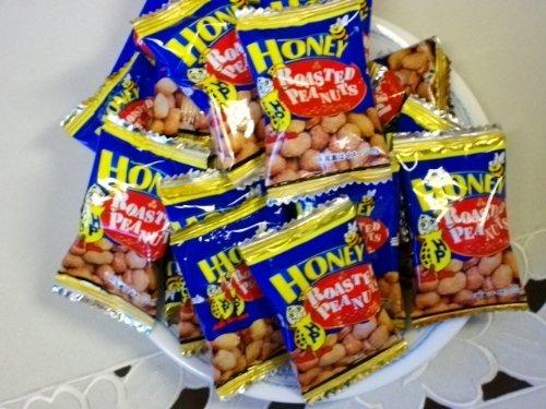 【送料込】業務用がお得です。おつまみやおやつに 人気のハニーローストピー1kg 便利なピロ袋入り/個包装タイプ/ピーナッツをハチミツでまぶした新しい味の豆菓子です