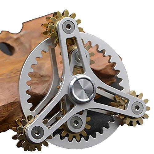 指スピナー 歯車が連動して回転する ハンドスピナー Fidg...