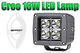 キャデラック エスカレード【Cree LED】16W LEDワークランプ(スポット)【アルミボディー】【コンパクト】