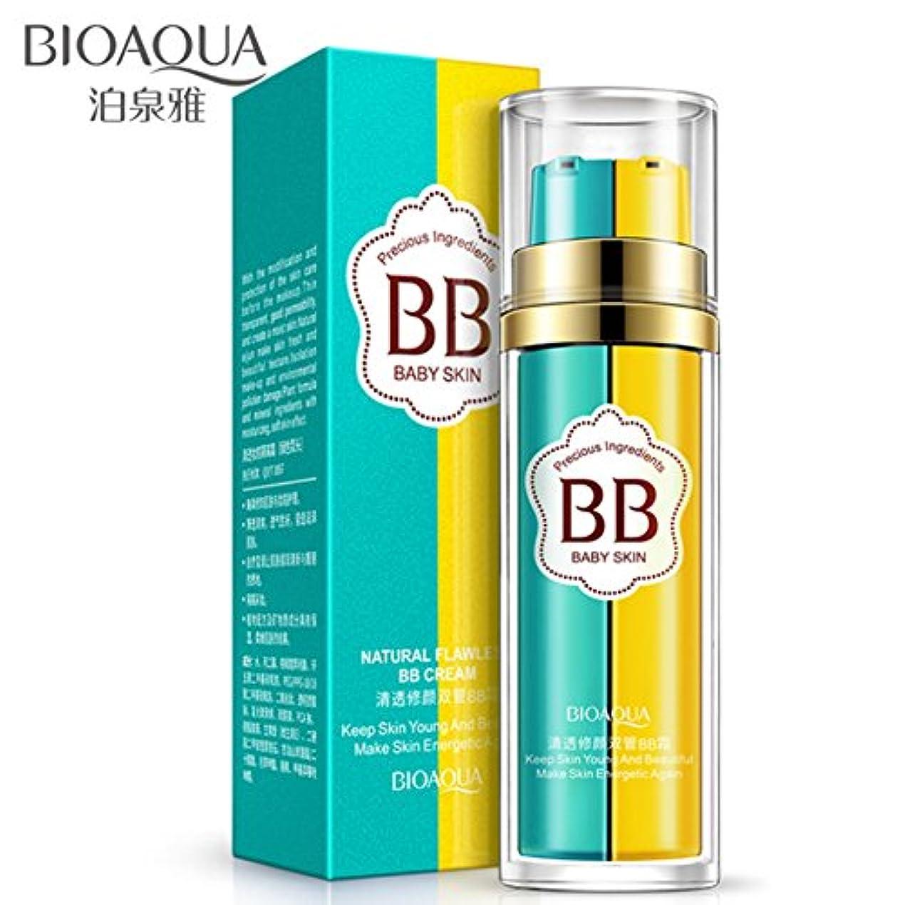 産地柔和適合2 In 1 BBクリームBIOAQUA Pre-makeupファンデーション&コンシーラーMoisturizing Nourdeヌードメイク(ナチュラルカラー)