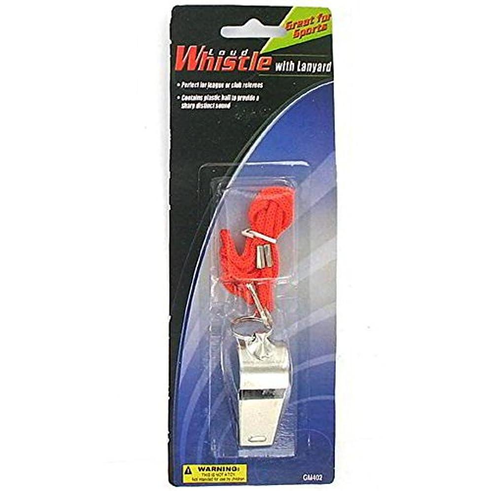 ピストル展示会スケジュールBulk Buys GM402 Whistle with Lanyard - by bulk buys