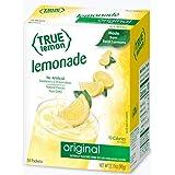 TRUE LEMON Original Lemonade Drink Mix (30 Packets) | Made from Real Lemon | No Preservatives, No Artificial Sweeteners, Glut