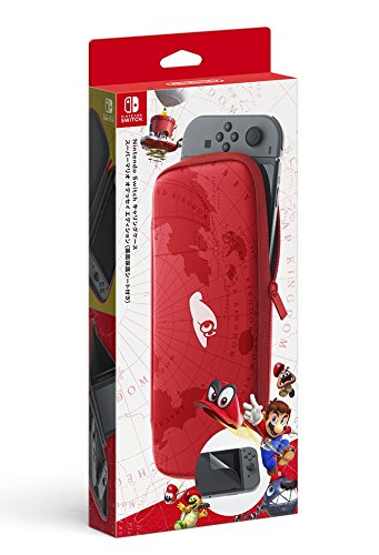 Nintendo Switchキャリングケース スーパーマリオ オデッセイエディション (画面保護シート付き)