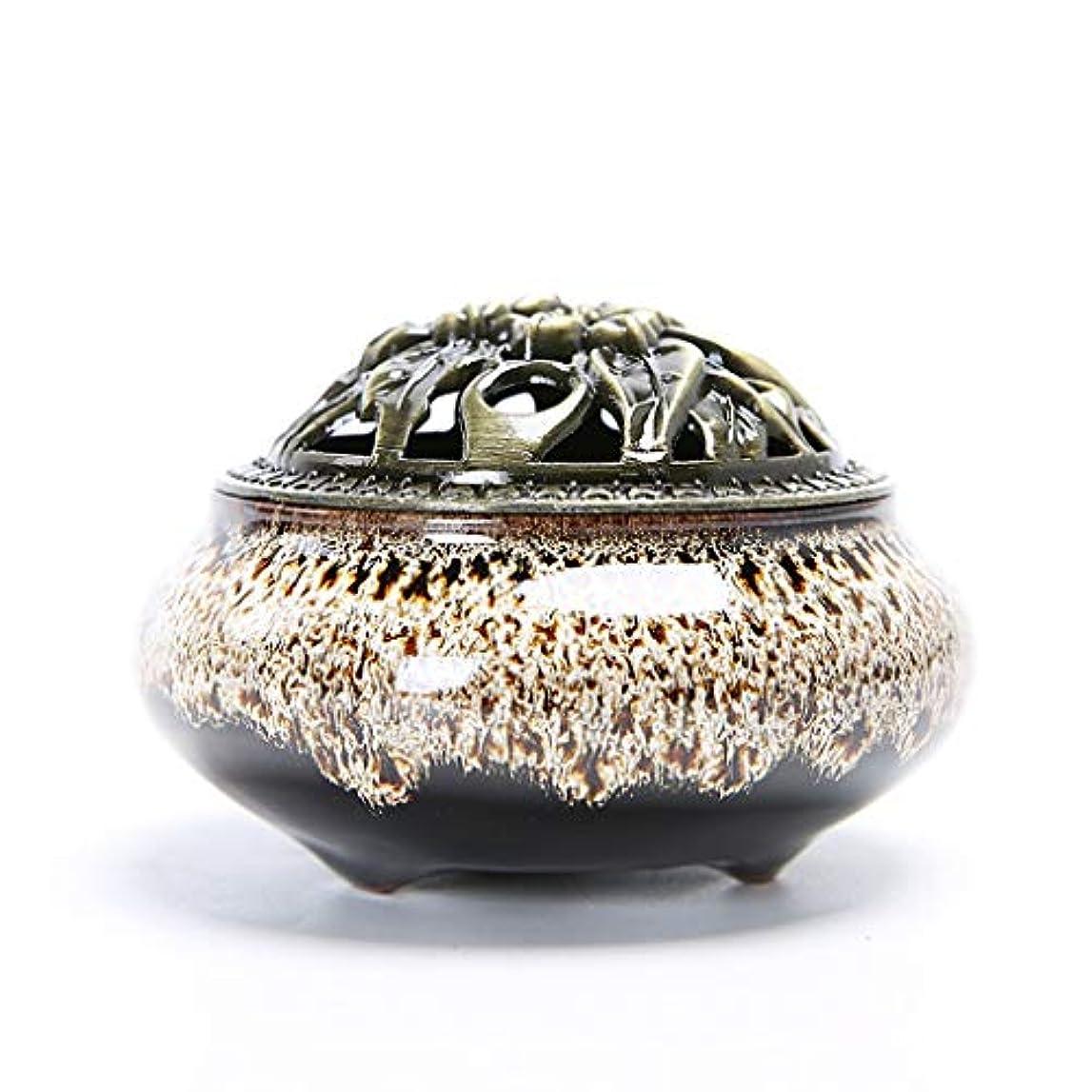 出来事グラス創始者クリエイティブセラミック香炉ホームルーム香スティック/コーン/コイルバーナーホルダー灰キャッチャーホーム仏教の装飾香ホルダー (Color : White, サイズ : 3.93*2.83inchs)
