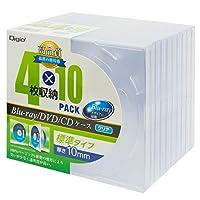 Digio2 Blu-ray DVD CD ケース 4枚収納 10パック CD-090-10