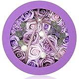 ソープフラワー ギフト 誕生日 プレゼント 女性 人気 母の日 敬老の日 ホワイトデー など 大切な方に バラ カーネーション アジサイ の フラワーアレンジメント (Round,パープル)