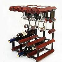 アイロンと木製のワインラック/装飾/装飾キッチン用リビングルームスタイリッシュで実用的 (色 : B)