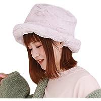 [モニコ] ハット 帽子 フェイクファー レディース ロシアン帽 防寒 暖かい 無地 モコモコ ぼうし 冬 ピンク 黒