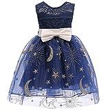 (フォーペンド)Forpend 子供ドレス 星月モチーフ キッズ フォーマル 110 120 130 140 150 結婚式 発表会 女の子用 子供服 ワンピース DR16
