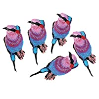 F Fityle パッチ バッジ 布ステッカー 刺繍 アイロンオン 鳥柄 かわいい 手作り 工芸品 装飾 5個 全7種 - 105