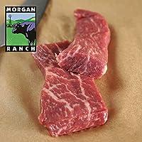 モーガン牧場ビーフ アメリカ産牛肉 熟成 高品質 トライチップステーキ (トモサンカク) アメリカンビーフ ホルモン剤や抗生物質不使用 180g x 3pc