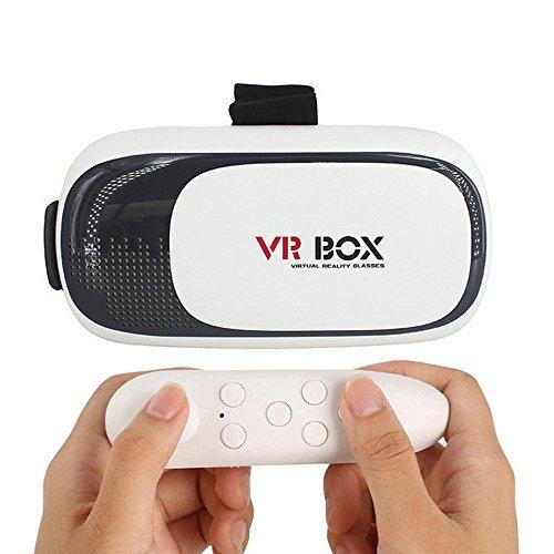 【Aizhy】3D VR ゴーグル VR BOX 3D VRメガネ ゴーグル 仮想現実 超3D映像効果 頭部装着 焦点/瞳孔距離調節可能 豪華型 良い臨場感 3.5- 6.0インチのスマートフ ォン対応 ワイヤレスリモコン付き