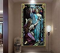 Bzbhart 3D壁紙ヨーロッパの宗教的な人物の油絵屋内ポーチの背景の壁の装飾壁画の壁紙-400cmx280cm
