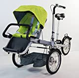 High End Convertible 3 in 1 Folding Stroller Bike with Big 16 'ホイール、ストレージ、Sun Shade by kidsviponline