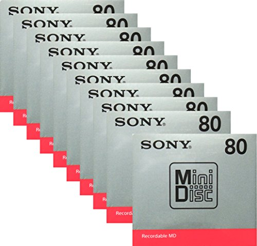 SONY 録音用ミニディスク MD 80分 10枚セット MDW80T