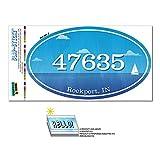 47635 ロックポート, に - 海洋 Nautical - 楕円形郵便番号ステッカー