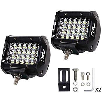 NAO デッキライト 作業灯 LED ワークライト タイヤ灯 車幅灯 集魚灯 防水 72W(36W×2)12v-24v 広角 2個