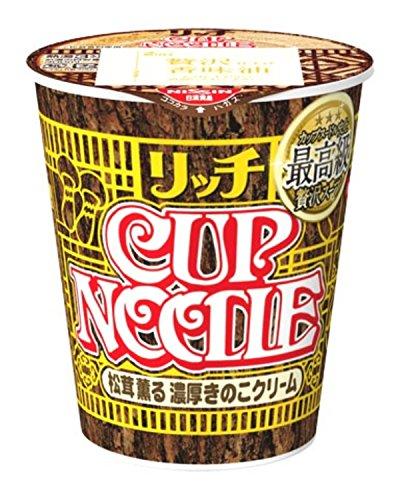 日清 カップヌードル リッチ 松茸薫る濃厚きのこクリーム 7...