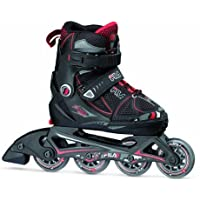 Fila x-oneコンボ3セットG Girls ' Inline Skates with保護パッド、ヘルメットmulti-coloured Wei /ピンクサイズ: L by Fila