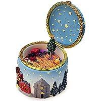 Konfaクリスマスヘラジカクリスマスツリー音楽ボックスボックス誕生日クリスマスギフト