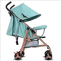 ベビーカーの赤ちゃんの傘の光ポータブル折りたたみ式の航空機はリクライニングトロリーショックの赤ちゃんキャリッジの馬車