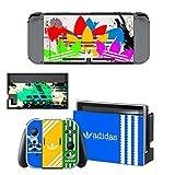 adidas 任天堂switch スイッチ スキンシール  (本体用ドッグ joy-con グリップ4点セット)アディダス Adidasc001 [並行輸入品]