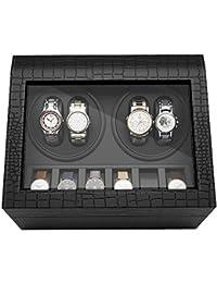 CRITIRON ワインディングマシーン 時計 4本巻き+6本収納 自動巻き上げ機 腕時計収納ケース 静音設計 黒 【一年保証期間付】