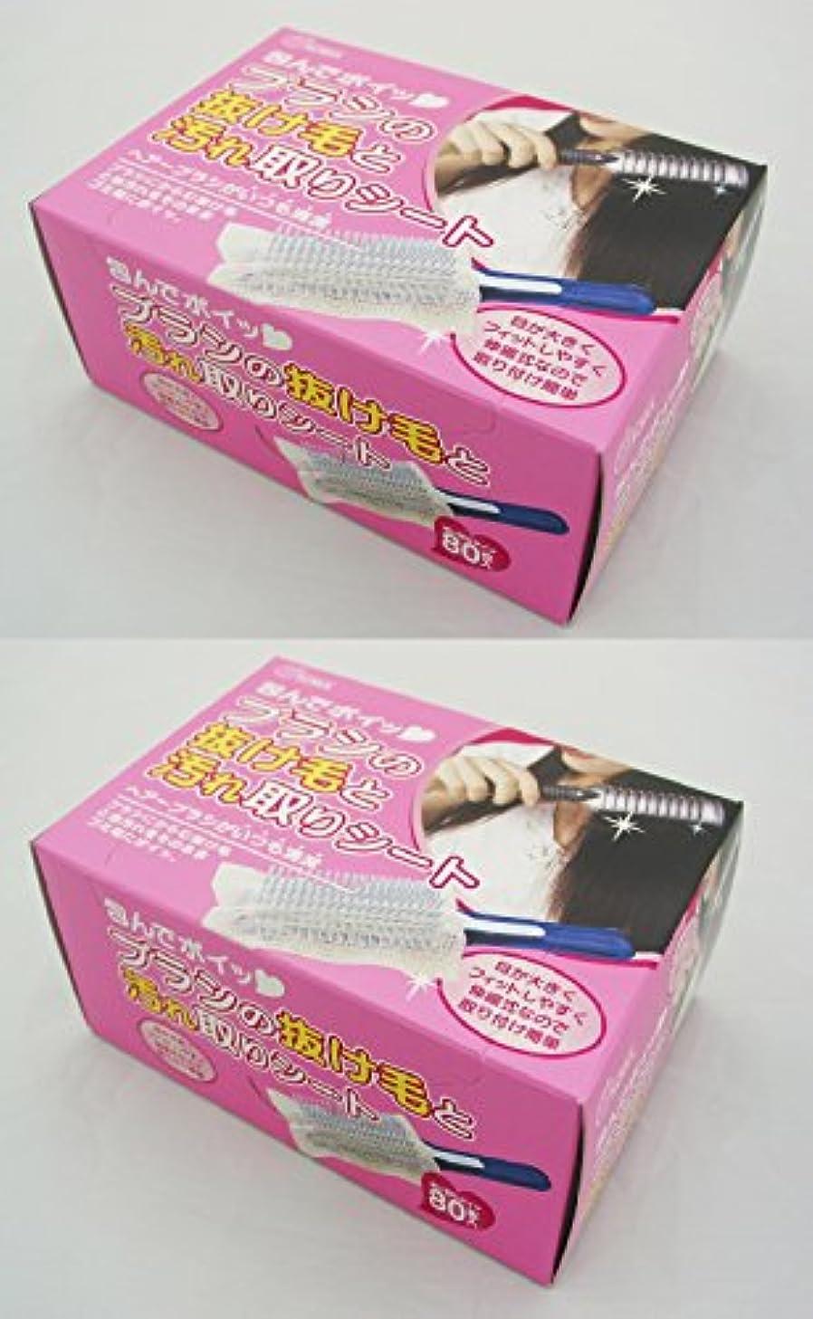 発行する特許塊ブラシの抜け毛と汚れ取りシート 80枚入 (2個)