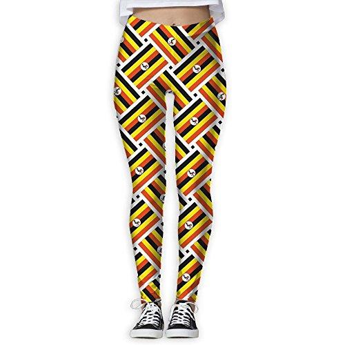ヨガウェア ヨガパンツ ウガンダの旗 レディーズ スポーツタイツ UVカット 吸汗速乾 体型補正カバー スポーツ トレーニング ヨガ用 個性的