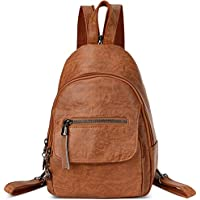 Small Leather Convertible Backpack Sling Purse Shoulder Bag for Women