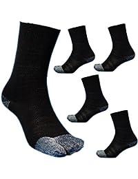 【C827B】 お買得の5足組 「黒綿」 綿素材で安心 補強糸使用でしっかり丈夫 指付 黒 作業用 足袋や安全靴に 24~26cm