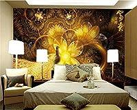 Mbwlkj カスタムファッション人格壁紙豊かな縁起の良い美しい黄金孔雀の背景壁の壁紙3 D-200cmx140cm